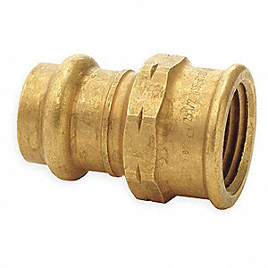 "Bronze Adapter, Press x FNPT Connection Type, 1-1/4"" Tube Size"