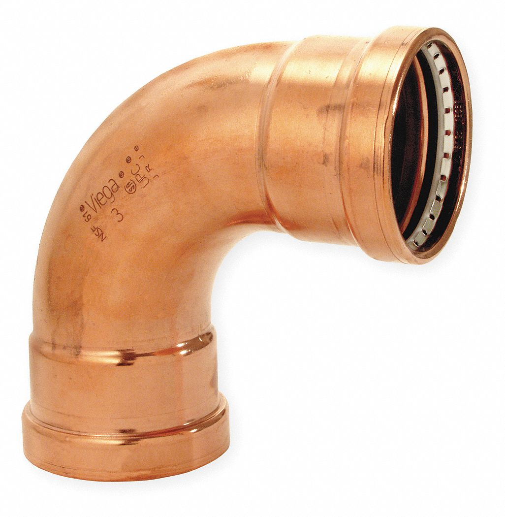 Copper XL 90 Degree Elbow, Press x Press Connection Type, 2-1/2 in x 2-1/2 in Tube Size