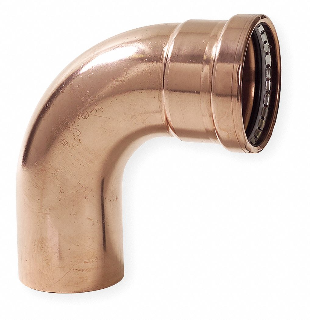 Copper XL 90 Degree Street Elbow, FTG x Press Connection Type, 3 in x 3 in Tube Size