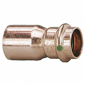 "Copper Reducer, FTG x Press Connection Type, 1-1/4"" x 1"" Tube Size"