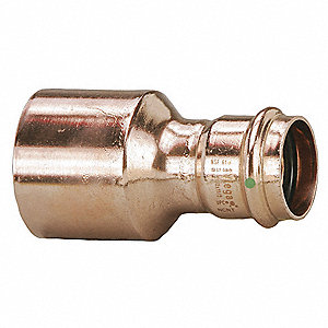 "Copper XL Reducer, FTG x Press Connection Type, 4"" x 2"" Tube Size"