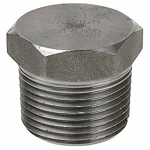 "316 Stainless Steel Hex Head Plug, MNPT, 3/4"" Pipe Size - Pipe Fitting"
