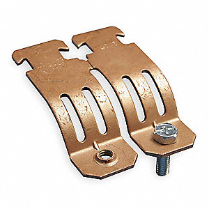 Copper Tubing Strut Pipe Clamp, Copper Electro Plated Steel