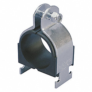 Tubing Strut Cushion Clamp, Electro-Galvanized Steel with Polypropylene Cushion