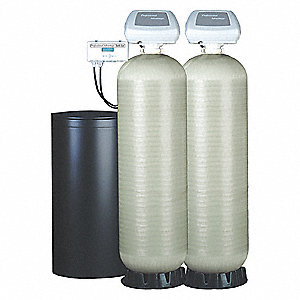 "78"" x 17"" x 64"" Water Softener with Salt Storage Capacity of 340lbs and Dúplex Max. Grain Capacity"