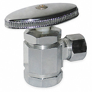 Chrome Plated Multi-Turn Supply Stop, FNPT Inlet Type, 125 psi