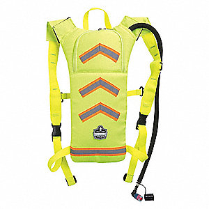 "Lime Hydration Pack, 70 oz./2L Capacity, Depth 2"", Length 19"", Width 11"""