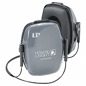 25dB Behind-the-Neck Ear Muff, Gray&#x3b; ANSI S3.19-1974