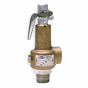 Bronze Safety Relief Valve, FNPT Inlet Type, MNPT Outlet Type