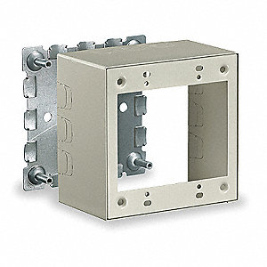 Steel Switch and Receptacle Box For Use With 500 and 750 Raceways, Ivory