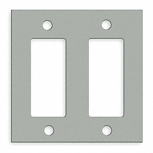 STEEL PLATE,TWO GANG,STYLE LINE,GRA