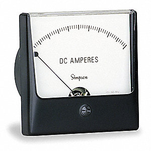 Analog Panel Meter,DC Current,0-1 DC mA