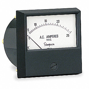 Analog Panel Meter,AC Current,0-25 AC A