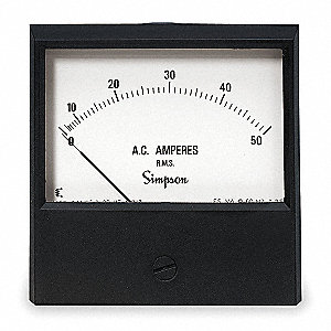 Analog Panel Meter,AC Current,0-50 AC A