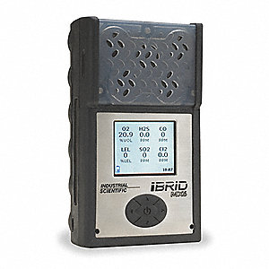 Multi-Gas Detector, 2 Gas, -4 to 131F, LCD