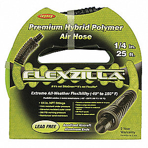50 ft. Engineered Polymer Multipurpose Air Hose, Max. Pressure: 300 psi, Vibrant Green