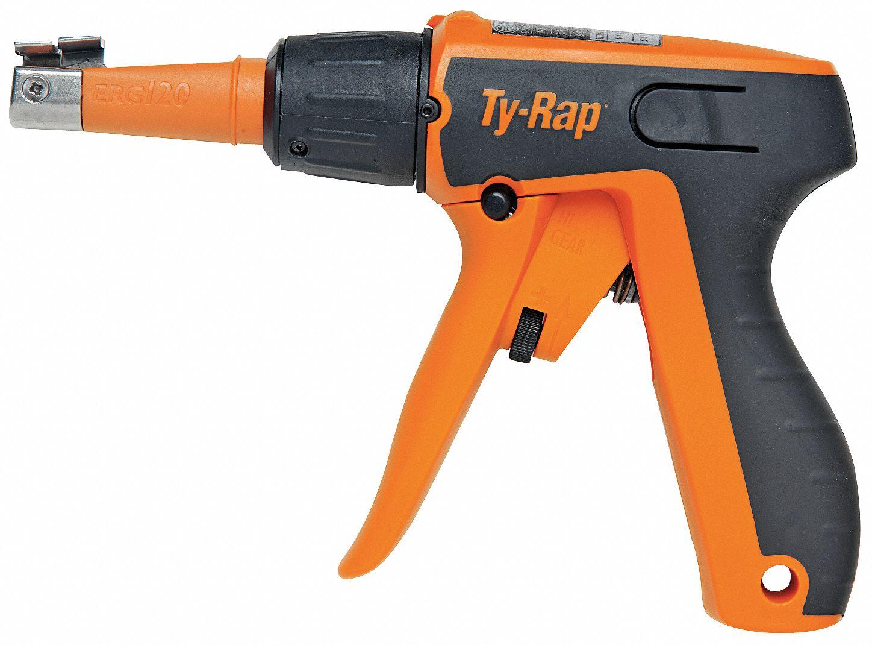 Zip Tie Gun >> Plastic Cable Tie Tension Tool For Nylon Cushion Grip Handle 50 To 120 Lb