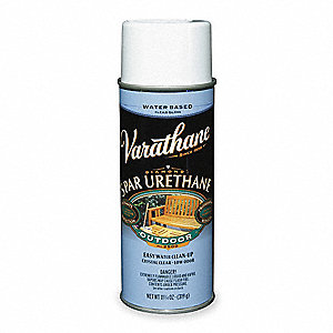Clear Spar Urethane Spray, Gloss Finish, 10 to 12 sq. ft. Coverage, Size: 11.25 oz
