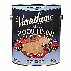 Semi-Gloss Floor Finish for Wood, Crystal Clear, 1 gal.