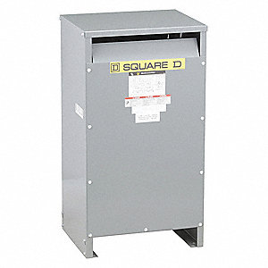 Floor-Mount 240/480VAC Energy Efficient Transformer, 25kVA, 120/240VAC Output Voltage
