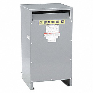 Single Phase Energy Efficient Transformer, 120VAC, 240VAC Output, 240VAC, 480VAC Input