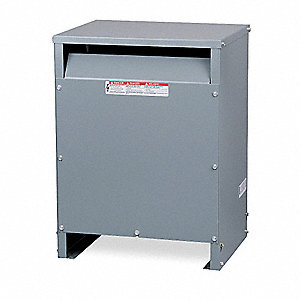 Energy Efficient Transformer, 75kVA VA Rating, 480VAC Input Voltage, 208VAC Wye/120VAC Output Voltag