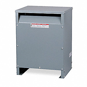 Energy Efficient Transformer, 150kVA VA Rating, 208VAC Input Voltage, 480VAC Wye/277VAC Output Volta