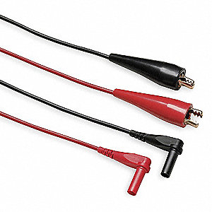 Test Leads,60 In. L,Black/Red,30VAC,PR
