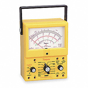 ANALOG MULTIMETER,1000V,10A,20M OHM