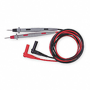 Test Leads,48 In. L,1000VAC,Black/Red,PR