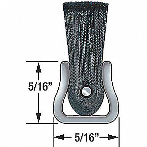 Strip Brush, 5/16W, L84 In, Trim 10 In, PK10