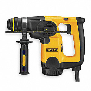 SDS Rotary Hammer Kit, 8.0 Amps, 0 to 4300 Blows per Minute, 120 Voltage