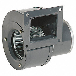 Rectangular OEM Blower With Flange, Voltage 115, 3100 RPM, Wheel Dia. 3-15/16""