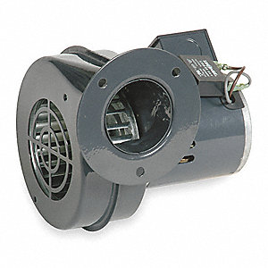 "Round Permanent Split Capacitor OEM Specialty Blower, Flange: Yes, Wheel Dia: 3-15/16"", 115VAC"