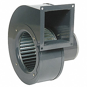 "Rectangular Permanent Split Capacitor OEM Specialty Blower, Flange: Yes, Wheel Dia: 6-1/4"", 115VAC"