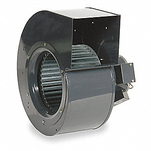"Rectangular Permanent Split Capacitor OEM Specialty Blower, Flange: No, Wheel Dia: 8-1/4"", 115VAC"