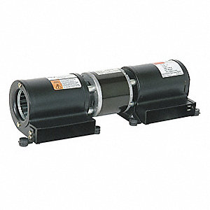 "Rectangular Permanent Split Capacitor Low Profile Blower, Flange: No, Wheel Dia: 2-15/16"", 115VAC"