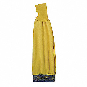 "Kevlar® Sleeve with Thumbhole, 22""L, Knitted Cuff, Yellow"