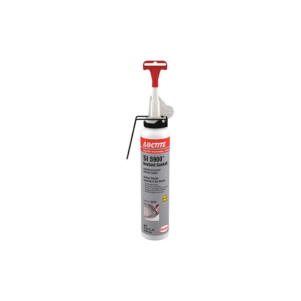 Instant Sealing Oil-Resistant Gasket Maker, -75 to 500°F Temp  Range, Full  Cure 24 hr , Black