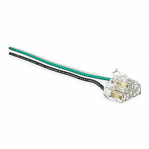 125VAC Right Angle Receptacle Wiring Module For Use With SNAPConnect® Receptacles, Stranded