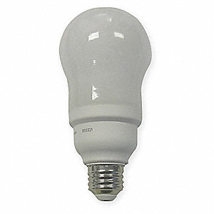 20 Watts Screw-In CFL, A19, Medium Screw (E26), 1100 Lumens, 2700K Bulb Color Temp.