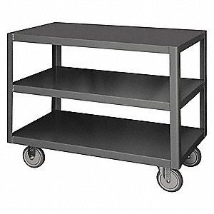 "Fixed Height Work Table, 18"" Depth, 30-1/4"" Height, 36"" Width,1200 lb. Load Capacity"