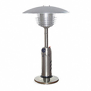 Patio Heater,LP,SS,5 ft. Radius