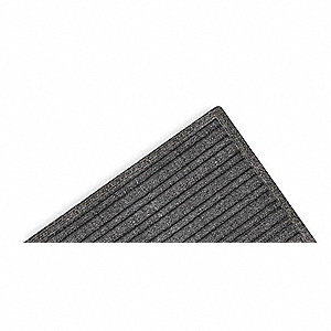 "Indoor Entrance Mat, 6 ft. L, 4 ft. W, 3/8"" Thick, Rectangle, Charcoal"