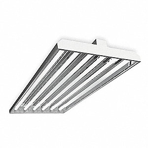 198W Fluorescent High Bay Fixture, 120 to 277V Voltage, Suggested Lamp Item No. 4PL16