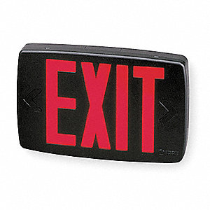 Exit Sign,0.62W,Red,7-5/8 in. H