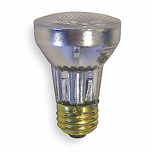 60 Watts Halogen Lamp, PAR16, Medium Screw (E26), 485 Lumens, 2850K Bulb Color Temp.