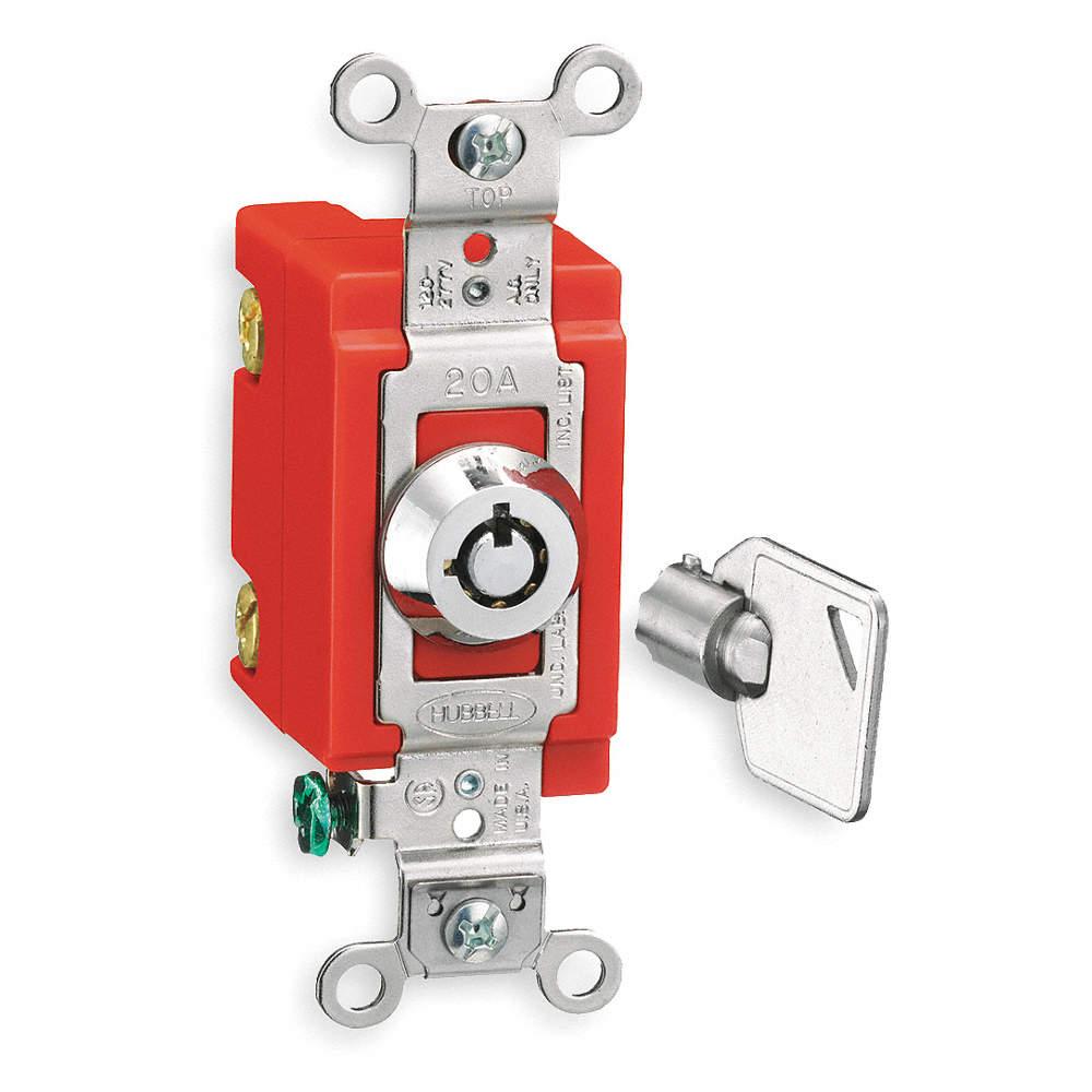 Wall Switch, 3-Way, Maintained, Barrel Key Locking on leviton 3 way switch, pass & seymour 3 way switch, bridgeport 3 way switch, eagle 3 way switch, lutron 3 way switch, changing 3-way light switch, cooper 3 way switch, legrand 3 way switch,