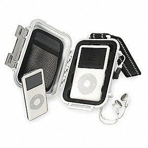 "4-1/16"" x 2-1/8"" x 5-7/16"" Polycarbonate iPod® Case, White"