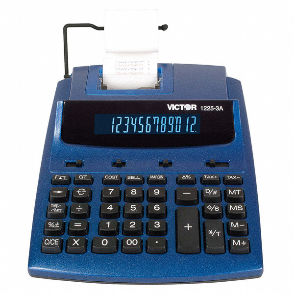 desktop calculator ink roller 12 digits 1tlv7 1225 3a grainger